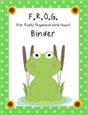 Frogs and Flowers Binder Cover