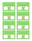 Frogs and Flowers Name Tag