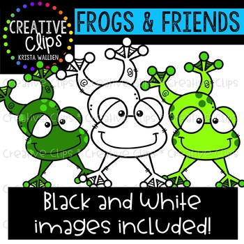 Frogs and Friends {Creative Clips Clipart}