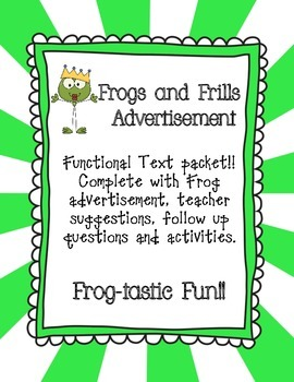 Frogs and Frills Functional Text