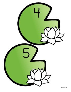 Frogs and Lily Pads Counting Center and Printables 0-10 Preschool Kindergarten