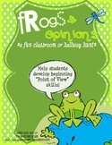 Frogs and Opinions- Fun Classroom or Hallway Facts and Opi