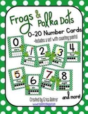 Frogs and  Polka Dots Number Signs {with counting points}