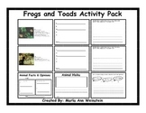 Frogs and Toads Activity Pack