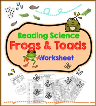 Frogs and Toads Reading Science