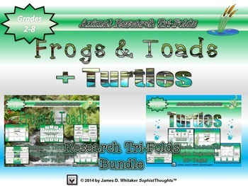 Frogs and Turtles Research Tri-Folds Bundle