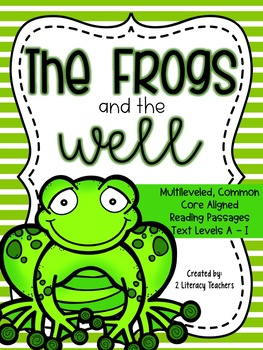 Frogs and the Well Fable: CCSS Aligned Leveled Reading Pas