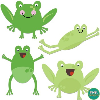 Frogs at the Pond Clipart