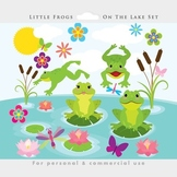 Frogs clipart - cute frogs clip art, whimsical, dragonflies, flowers, froggies
