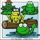 Frogs in the Pond Clip Art Set - Chirp Graphics