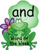 Frogs 'n' Lily Pads Pre-Primer Word Wall