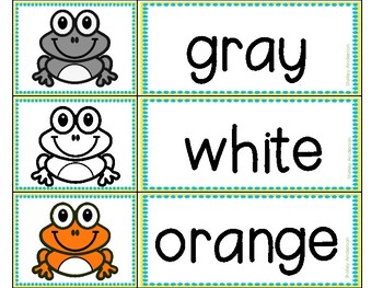 Frogs of Many Colors Rhyming Chant