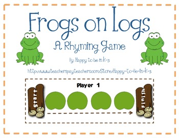 Frogs on Logs - A Rhyming Game and Center Activity