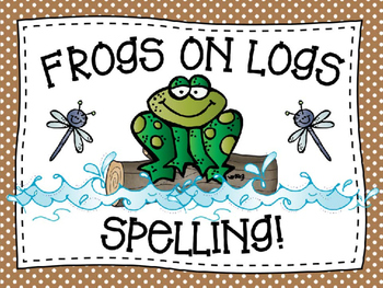 Frogs on Logs Spelling