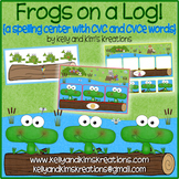 Frogs on a Log! {a spelling center with CVC and CVCe words}