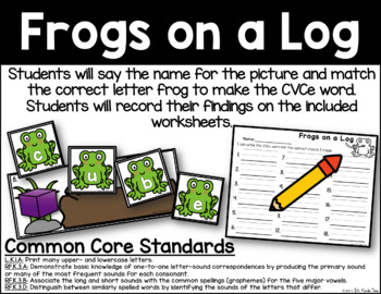 Frogs on a Log - CVCe Word Identification