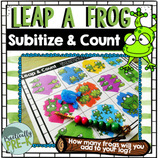 Frogs on a Log Math Activity: Counting, Subitizing, & Fine Motor