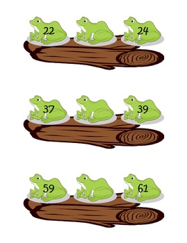 Frogs on a Log Missing Number Practice