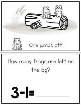 Subtraction Interactive Book - Frogs on a Log