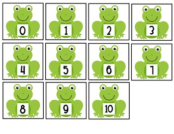 Frogs on a Log {number sense game}