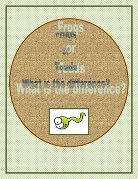 Frogs or Toads:  What is the difference?