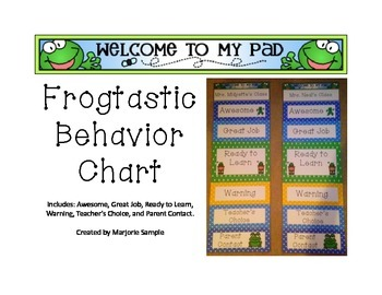 Frogtastic Behavior Clip Chart
