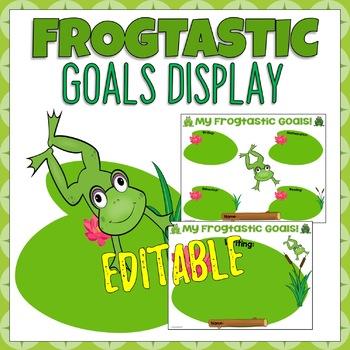 Frogtastic Student Goal Display Editable - Frog Themed
