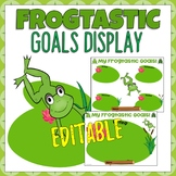 Frogtastic Student Goal Display Editable Frog Themed