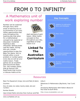 From 0 To Infinity-A Mathematics Unit on Number for ages 7-9