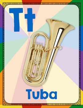 From A to Z - An Instrument Alphabet Poster Set - Rainbow Pinwheel