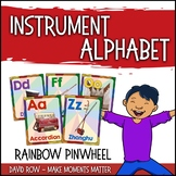 From A to Z - An Instrument Alphabet Poster Set - Rainbow