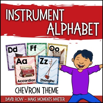 From A to Z - An Instrument Alphabet Poster Set - Chevron Theme