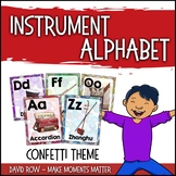 From A to Z - An Instrument Alphabet Poster Set - Confetti Theme