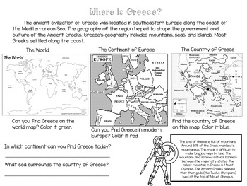 From ANCIENT GREECE to MODERN DEMOCRACY No Prep Packet and Assessment