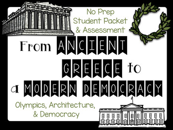 From ANCIENT GREECE to MODERN DEMOCRACY No Prep Packet and