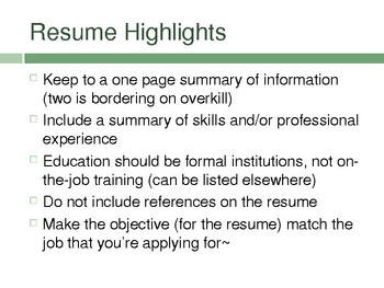 From Application to Interview to Job