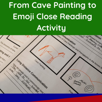 From Cave Painting to Emojis Close Reading Activity