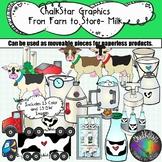 Farm to Table- Dairy Milk Production Clip Art- Chalkstar Graphics
