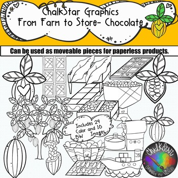 From Farm to Table- Chocolate Production Clip Art- Chalkstar Graphics