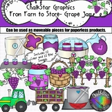 From Farm to Table- Grape Jelly Production Clip Art- Chalkstar Graphics