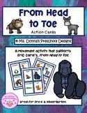 From Head to Toe Action Cards