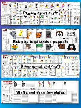 From Head to Toe Activity Pack - body, animals, actions - games, sheets, crafts