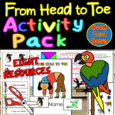 From Head to Toe Cut & Paste Minibook PLUS 6 RESOURCES