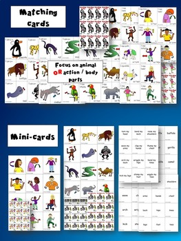 From Head to Toe - Flashcards, Mini-cards, Matching cards- Learn through Stories