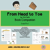 From Head to Toe Language Literacy Activity