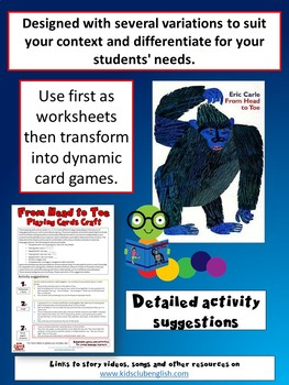 From Head to Toe - Playing Cards Craft - Learn through Stories and Craft