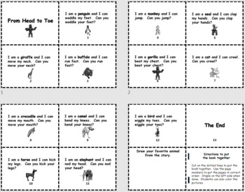 From Head to Toe PowerPoint Show + PDF Printable Books
