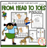From Head to Toes Play Dough Number Mats and More