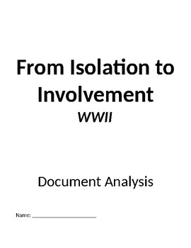 From Isolation to Involvement Neutrality in World War II
