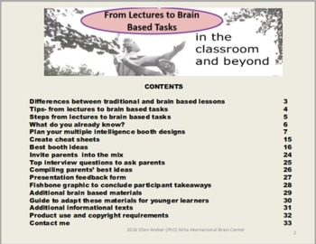 From Lectures to Brain Based Tasks